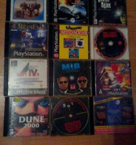 Диски с играми на Soni PS. One.