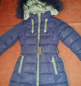 Зимняя куртка на 6-8лет.