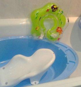 Ванночка, горка, стульчик для купания