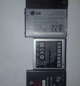 Аккумуляторы Sansung , Megafon, Fly, LG