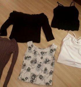 Кофточки, топики, блузки пакетом, размер 44