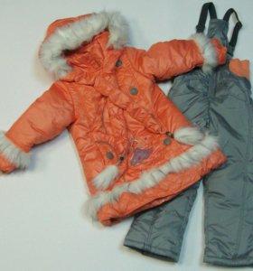 Новое пальто с комбинезоном