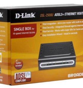 модем-роутер D-LINK DSL 2500 U