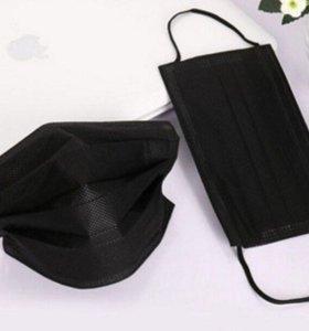 черные маски, перчатки, полотенца