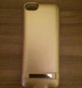 Зарядное устройство чехол на IPhone 5,5s,Se.