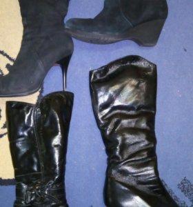 Обувь зима кожа мех натуралка