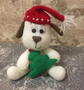 Вязанная собака (символ 2018 года)