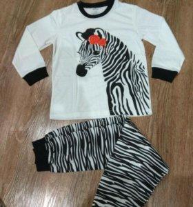 Новая пижама для девочки рост 122-128