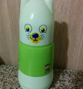 Бутылочка- термос, 2 бутылочки и ложка