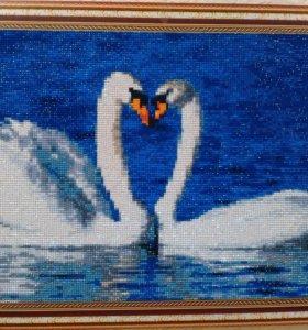 "Картина "" Лебеди """