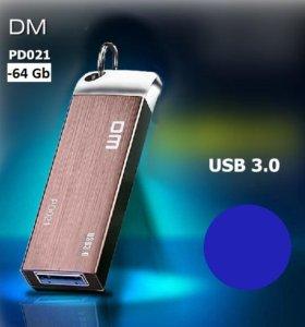 USB 3.0 флешка DM PD021 Объем - 64Gb