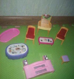 Игрушечная мебель для домиков