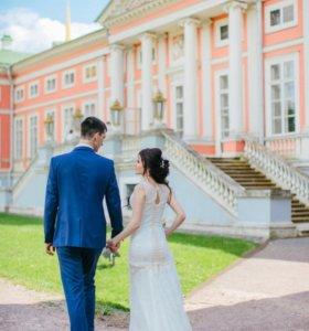 Платье свадебное русалка+ чехол + подарок