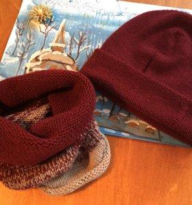 Шапки и шарфы вязаные