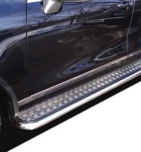 Подножки, пороги на Mitsubishi Outlander