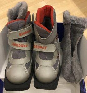 Лыжные ботинки размер 34-35 обували два раза