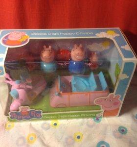 Свинка Пеппа с машиной и скутером