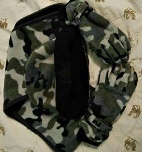 Шапочка, шарф, рукавички на мальчика.