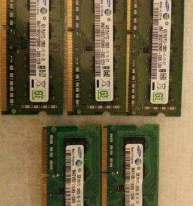 Оперативная память для ноутбука.новая.2и4Gb