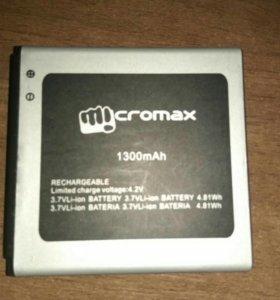 Батареи от телефонов micromax d303, d302