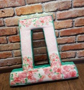 Буквы из картона