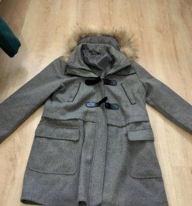 Пальто +шапка и платок