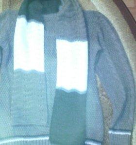 Джемпер с шарфом