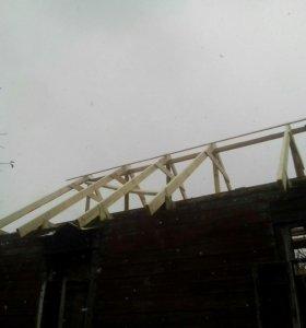 строительство крыш, земляные работы,