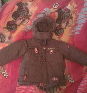 Куртка зимняя на 3-4 года.