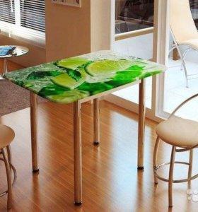 Стол обеденный с принтом, 1000х700х750 мм