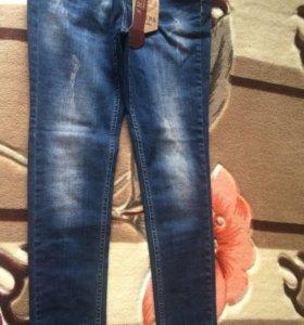 Брюки джинсовые, размеры 26-30