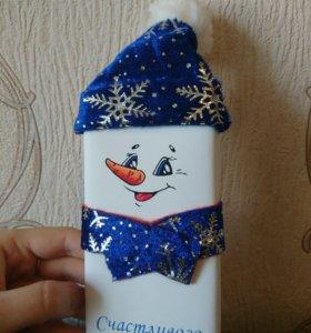 "Шоколад 🍫 ""Снеговик"" новогодний подарочек"