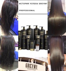 Кератиновое выпрямление, лечение волос.