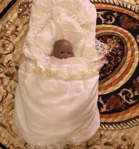 Конверт теплый для новорожденного