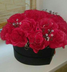 Букет роз . Ручная работа