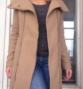 Шерстяное пальто Bershka