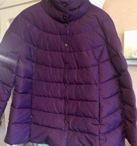 Куртка пуховик 54 размер