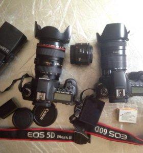 Canon 5 d mark 2 canon 60 d