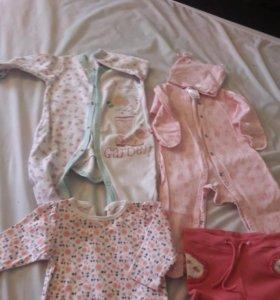 Новорождённые одежды б.у