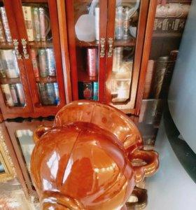Кашпо керамика старинное
