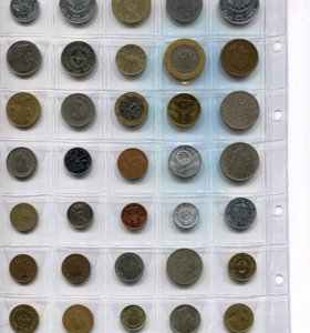 Монеты мира 35 шт без повторов