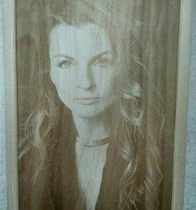 Фотоночник.Часы.Портреты.Изделие из дерева