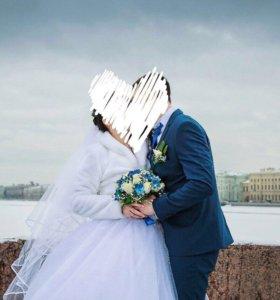 Новая зимняя свадебная шубка