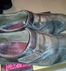Туфли мужские демисезон, б/у в хорошем состоянии