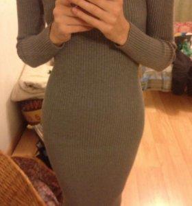 Трикотажное платье в рубчик Tally Weijl