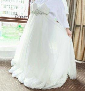 Счастливое Для беременных свадебное платье