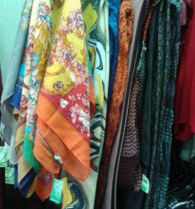 Платки , снуды, шарфы новые