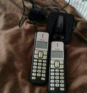 Продам радиотелефон с двумя трубками