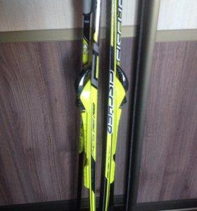 Лыжи , ботинки, палки и крепления Fischer