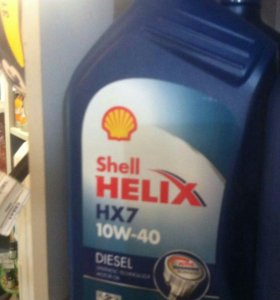 Масло моторное SHELL HELIX HX7 DIESEL 10W-40 1л